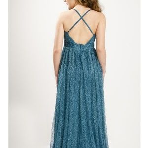 Dresses & Skirts -  NEW TEAL LACE SHEER MAXI DRESS